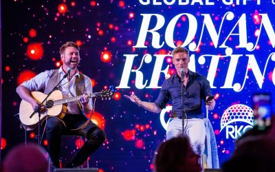Enormous Success of The Philantrhopic Global Gift & Ronan Keating Golf, Gala and Concert, with Maria Bravo and The Irish Pop Star