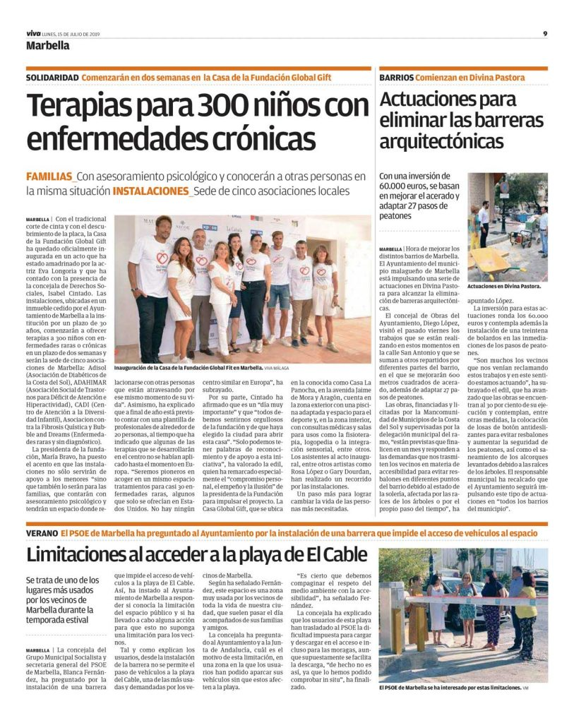 15-07-19_Viva-Malaga_Terapias-para-300-niños-con-enfermades-crónicas